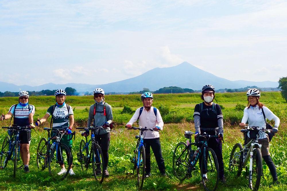 筑波山を望むのんびり小貝川と下館まち巡りサイクリング