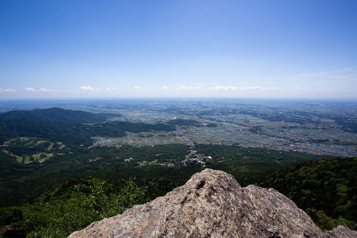 筑波山女体山頂からの眺め