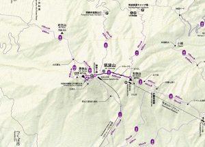 山頂連絡路コースマップ