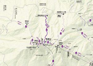 深峰歩道(首都圏自然歩道線)コースマップ