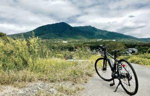 eバイクと筑波山