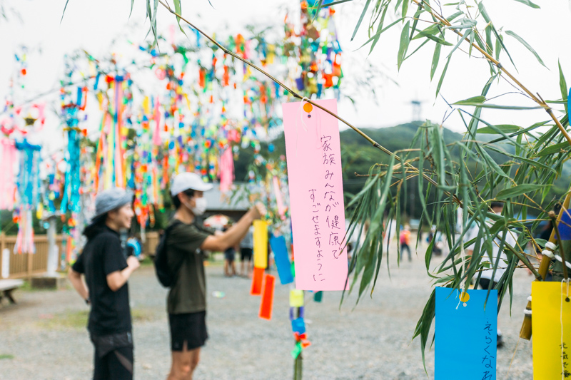 筑波山頂七夕祭りの様子