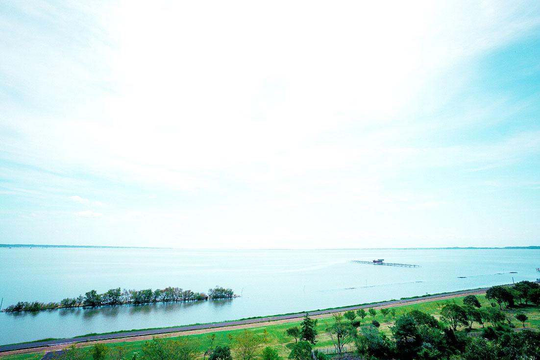 日本で2番目に大きな湖、霞ヶ浦