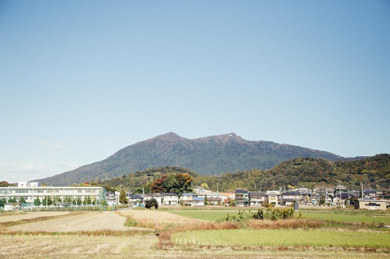 名無しの駐車場から見える筑波山