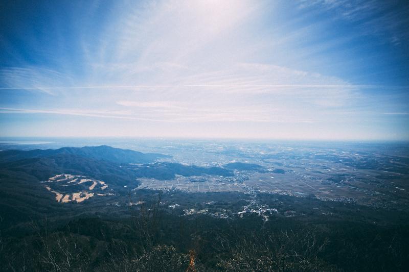 筑波山頂からの眺め